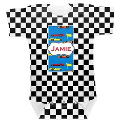 Checkers & Racecars Baby Bodysuit 6-12 (Personalized)