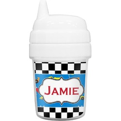 Checkers & Racecars Baby Sippy Cup (Personalized)