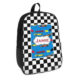 Checkers & Racecars Kids Backpack (Personalized)