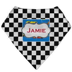 Checkers & Racecars Bandana Bib (Personalized)