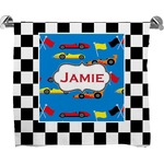 Checkers & Racecars Bath Towel (Personalized)
