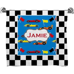 Checkers & Racecars Full Print Bath Towel (Personalized)