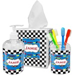 Checkers & Racecars Bathroom Accessories Set (Personalized)