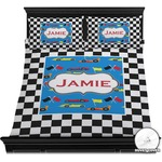 Checkers & Racecars Duvet Cover Set (Personalized)