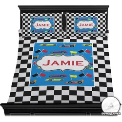 Checkers & Racecars Duvet Covers (Personalized)