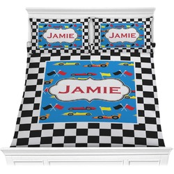 Checkers & Racecars Comforter Set (Personalized)