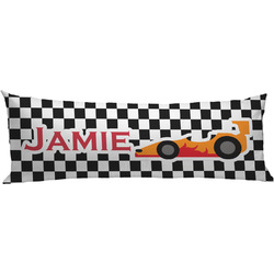 Checkers & Racecars Body Pillow Case (Personalized)