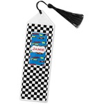 Checkers & Racecars Book Mark w/Tassel (Personalized)