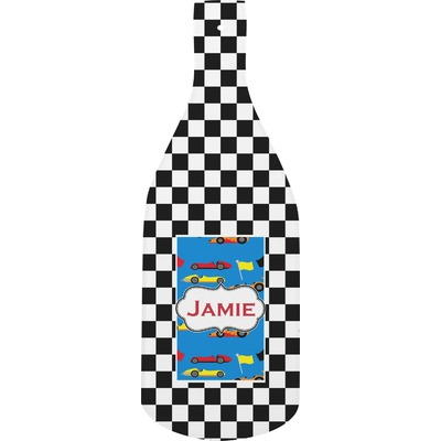 Checkers & Racecars Bottle Shaped Cutting Board (Personalized)