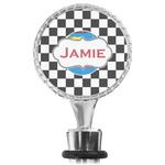 Checkers & Racecars Wine Bottle Stopper (Personalized)