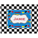 Checkers & Racecars Placemat (Fabric) (Personalized)