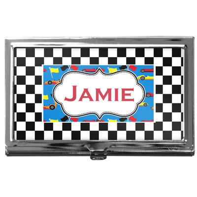 Checkers & Racecars Business Card Case