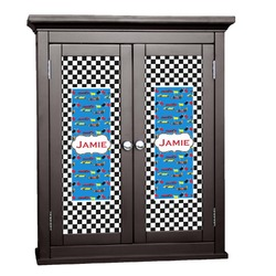 Checkers & Racecars Cabinet Decal - XLarge (Personalized)