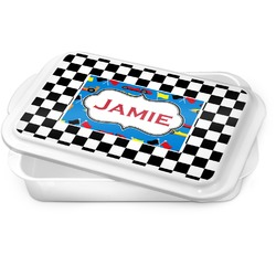 Checkers & Racecars Cake Pan (Personalized)