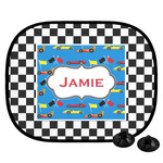 Checkers & Racecars Car Side Window Sun Shade (Personalized)