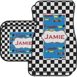 Checkers & Racecars Car Floor Mats (Personalized)