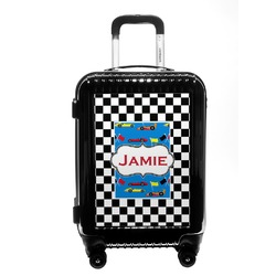 Checkers & Racecars Carry On Hard Shell Suitcase (Personalized)