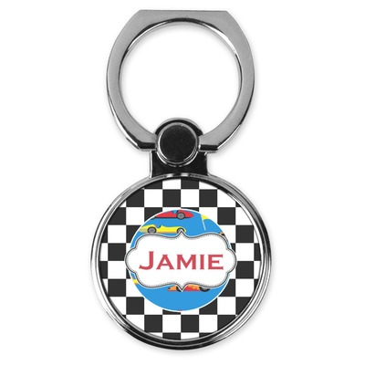 Checkers & Racecars Cell Phone Ring Stand & Holder (Personalized)