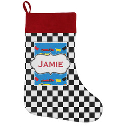 Checkers & Racecars Holiday / Christmas Stocking (Personalized)