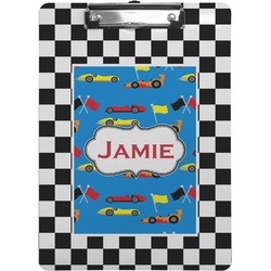 Checkers & Racecars Clipboard (Personalized)