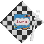 Checkers & Racecars Napkins (Set of 4) (Personalized)