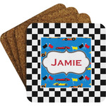 Checkers & Racecars Coaster Set (Personalized)