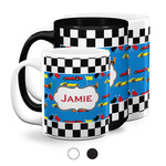 Checkers & Racecars Coffee Mugs (Personalized)