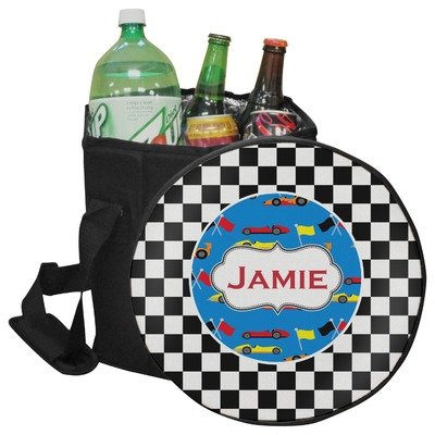 Checkers & Racecars Collapsible Cooler & Seat (Personalized)