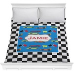 Checkers & Racecars Comforter (Personalized)