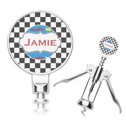 Checkers & Racecars Corkscrew (Personalized)