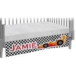 Checkers & Racecars Crib Skirt (Personalized)