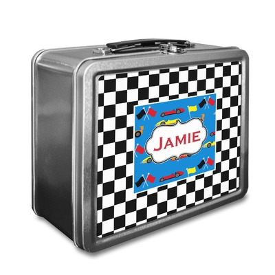 Checkers & Racecars Lunch Box (Personalized)