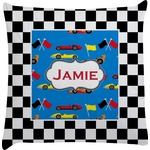 Checkers & Racecars Decorative Pillow Case (Personalized)