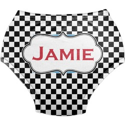 Checkers & Racecars Diaper Cover (Personalized)