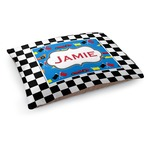 Checkers & Racecars Dog Bed (Personalized)