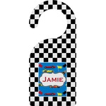 Checkers & Racecars Door Hanger (Personalized)