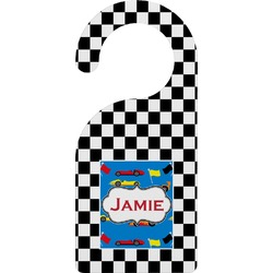 Checkers & Racecars Door Hanger (Personalized)