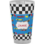 Checkers & Racecars Drinking / Pint Glass (Personalized)