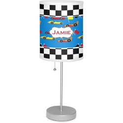 "Checkers & Racecars 7"" Drum Lamp with Shade (Personalized)"