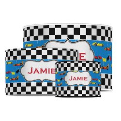 Checkers & Racecars Drum Lamp Shade (Personalized)
