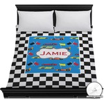 Checkers & Racecars Duvet Cover (Personalized)