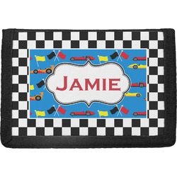 Checkers & Racecars Trifold Wallet (Personalized)