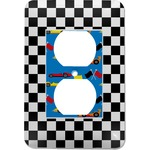 Checkers & Racecars Electric Outlet Plate (Personalized)