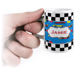 Checkers & Racecars Espresso Mug - 3 oz (Personalized)