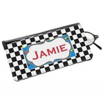 Checkers & Racecars Genuine Leather Eyeglass Case (Personalized)