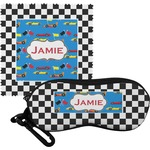 Checkers & Racecars Eyeglass Case & Cloth (Personalized)