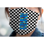 Checkers & Racecars Face Mask Cover (Personalized)