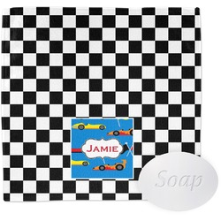 Checkers & Racecars Wash Cloth (Personalized)