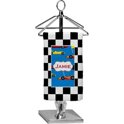 Checkers & Racecars Finger Tip Towel - Full Print (Personalized)