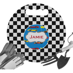 Checkers & Racecars Gardening Knee Cushion (Personalized)